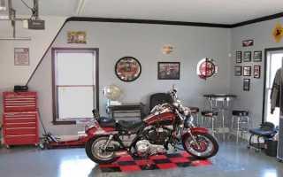Гараж для мотоцикла или скутера: выбор материалов и строительство своими руками