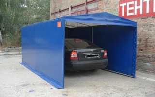 Тентовый гараж для автомобиля: виды конструкции и как собрать своими руками