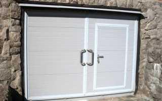 Учимся делать надежные двери в гараж своими руками