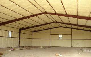 Утепление крыши гаража изнутри