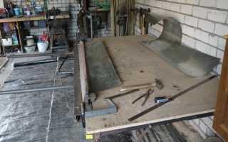 Откидной стол в гараж своими руками: инструкция по созданию пошагово