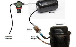 Как сделать из простых деталей компрессор в гараж своими руками