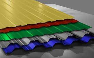 Как сделать на гараже односкатную крышу из профнастила: инструкция
