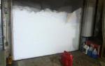 Утепление гаражных ворот — как и чем утеплить своими руками