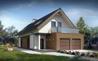 Проект дома с гаражом для узкого участка: варианты