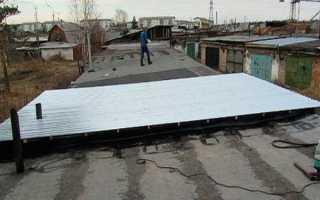 Крыша гаража из профнастила своими руками: как перекрыть пошагово