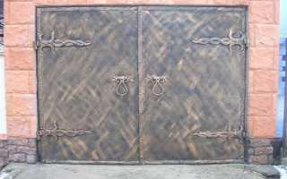 Кованые гаражные ворота: виды конструкции, как выбрать лучшие