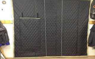 Гаражные шторы: выбор материала, методы крепления, как изготовить своими руками