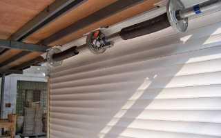 Как установить ворота рольставни на гараж своими руками — инструкция