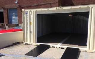Гараж из контейнера 40 футов: плюсы и минусы, как сделать своими руками