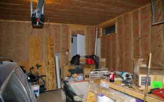 Утепление гаража — чем утеплить изнутри своими руками
