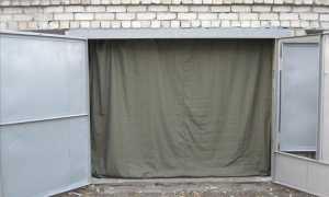 Шторы в гараж — из брезента, подъемные, как сделать своими руками