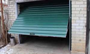Откидные ворота для гаража своими руками