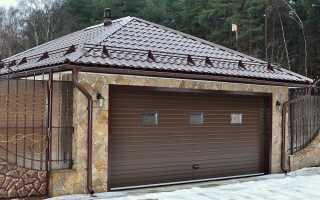 Кровля гаража:варианты материалов для крыши