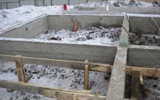 Как залить фундамент зимой6 особенности выполнения работ