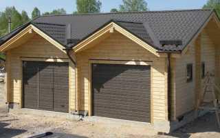 Как построить гараж из бруса своими руками: этапы и рекомендации