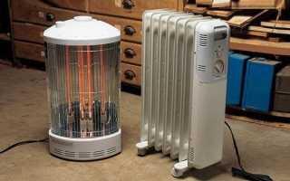 Обогреватель для гаража: какой лучше, газовый, инфракрасный, дизельный и электрический