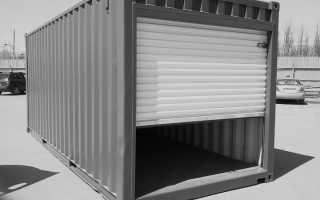 Собираем гараж из контейнеров своими руками. Инструкция
