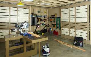 Мастерская в гараже: выполняем полное обустройство своими руками