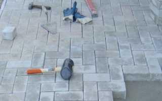 Тротуарная плитка в гараже своими руками: как правильно уложить с видео