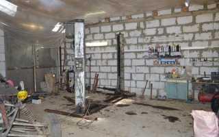 Установка подъемника в гараже своими руками: размеры и монтаж с видео