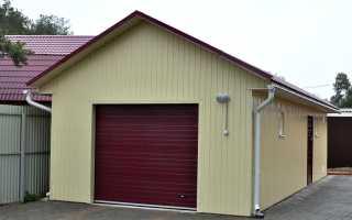 Оптимальные размеры гаража на 1 машину: стандарты