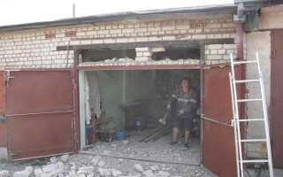 Перемычка над воротами гаража: как сделать своими руками с видео