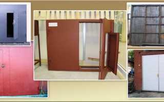Какие двери в гараж надежней — конструкция ворот и материал створок ворот