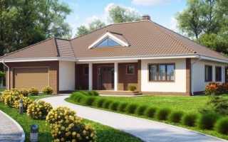 Проект дома с гаражом под одной крышей: варианты