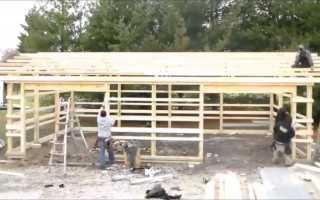 Как построить каркасный гараж на две машины своими руками