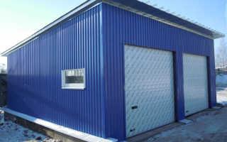 Теплый сборный гараж — особенности и варианты конструкции