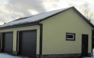 Чем обшить гараж снаружи — штукатурка, сайдинг, инструкции