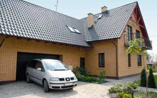Проекты коттеджей из кирпича с гаражом: варианты