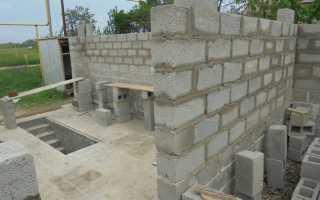 Кладка стен из блоков:расчет и технология