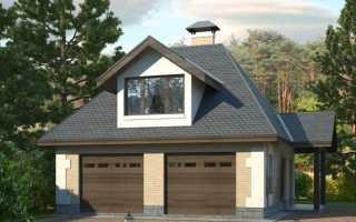 Двухэтажный гараж: как построить жилой второй этаж