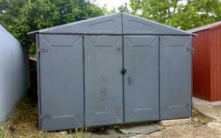 Металлический гараж: строительство своими руками