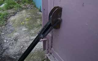 Упор для ворот гаража от ветра: разновидности, сборка и монтаж своими руками