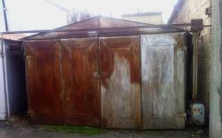 Как можно выпрямить ворота гаража своими руками?