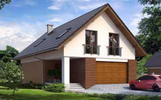 Дома с мансардой и с гаражом: поэтапная постройка