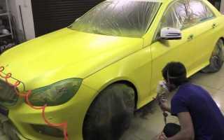 Покраска авто своими руками в гаражных условиях