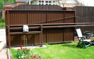Установка откатных ворот самостоятельно: инструкция
