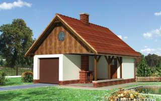 Проекты одноэтажных домов с гаражом: варианты