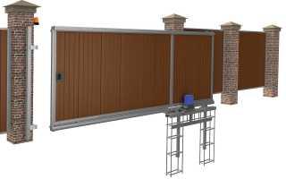 Раздвижные ворота: схема, виды и установка