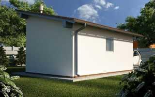 Односкатная крыша из профнастила для гаража: как возвести