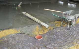 Как залить бетонный пол в подвале гаража — подробная инструкция