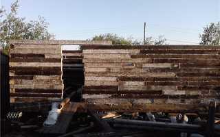 Как построить гараж из шпал самому за несколько дней