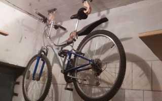 Хранение велосипеда в гараже: приспособления и крепления своими руками