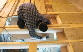 Утепление чердачного перекрытия по деревянным балкам: как правильно