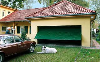 Ворота в гаража подъемные — как сделать своими руками