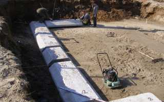 Бетонная подушка под фундамент: расчет и выполнение